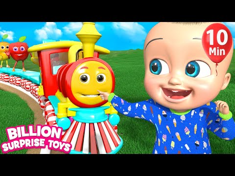 The Train is Coming (Fantasy Cartoon) | + More Kids Songs | Billion Surprise Toys
