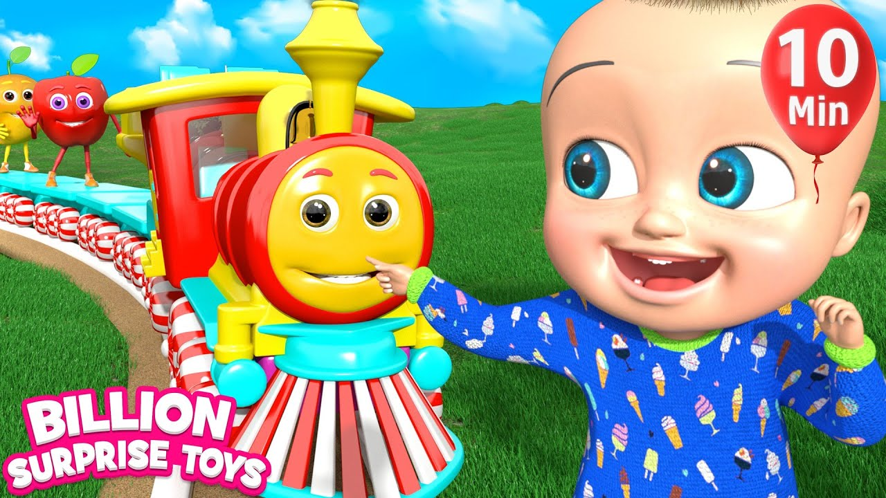 Fruits Train Song | BillionSurpriseToys Nursery Rhyme & Kids Songs