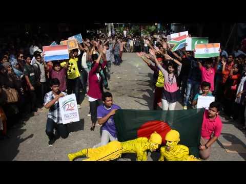 ICC World Twenty 20 T 20, Flash Mob, Northern University Bangladesh, Globe Campus
