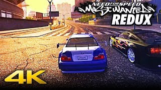 Need for Speed MOST WANTED REDUX | Welcome to Rockport City in 4K