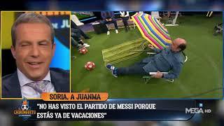 Soria MANDA de VACACIONES a JUANMA y le regala en plató una sombrilla y una toalla