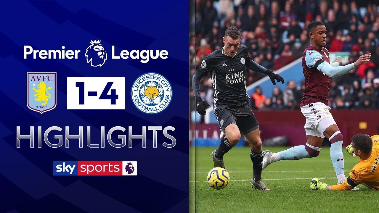 Vardy double earns Leicester EIGHTH consecutive win! | Aston Villa 1-4 Leicester | EPL Highlights