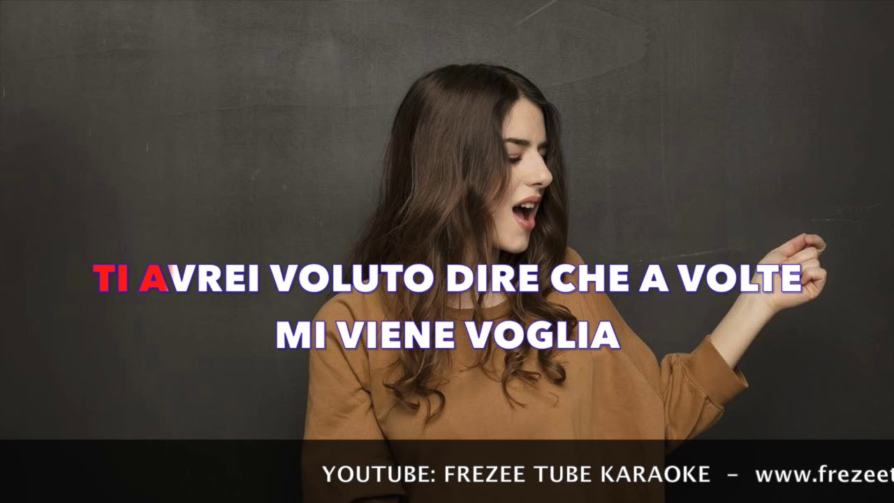 Federica Carta Ti Avrei Voluto Dire Karaoke Con Testo