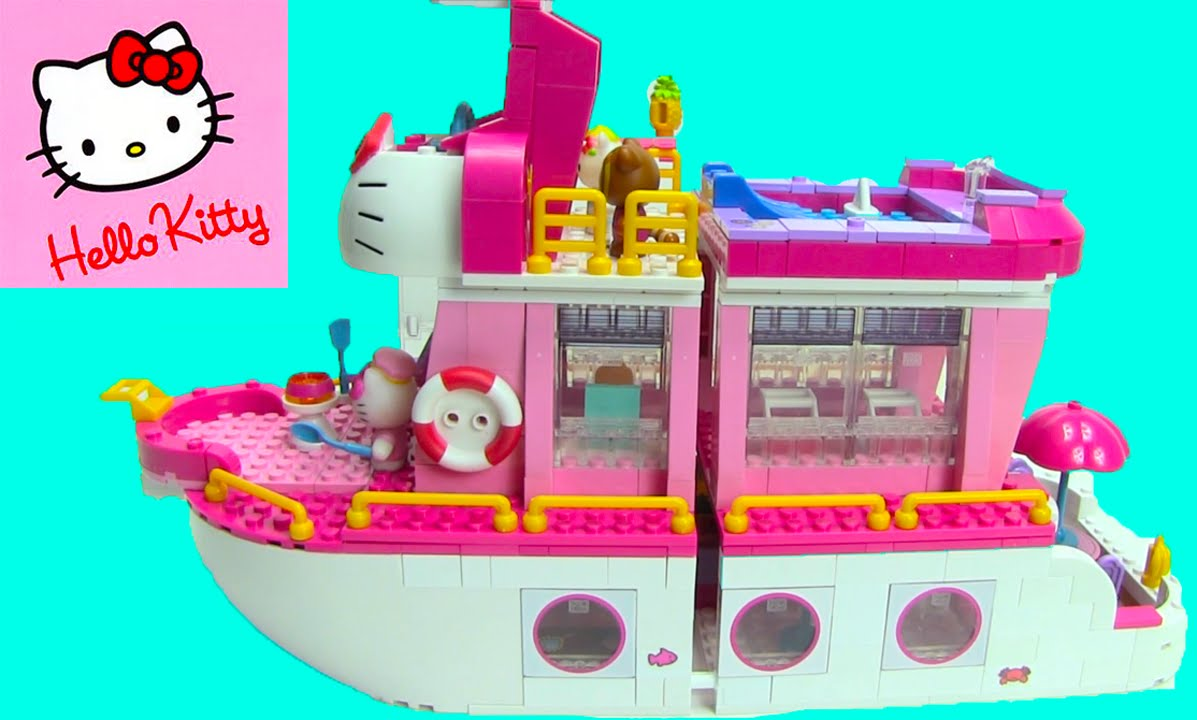 Hello kitty mega bloks cruise ship 10930 toygenie youtube - Lego hello kitty maison ...