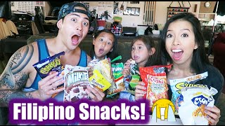 Filipino Snacks with the Kids | Challenge | Sean&Elaine