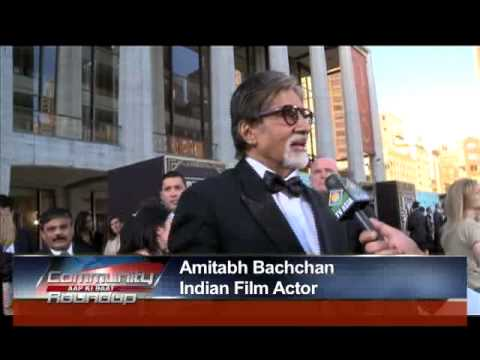 NY Cheers for Amitabh Bachchan. 'The Great Gatsby' Red Carpet.