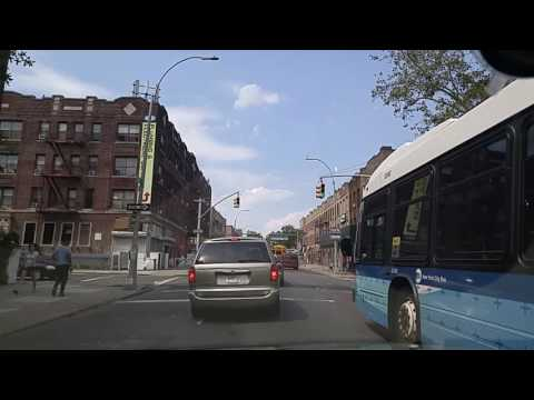 Driving from Prospect Lefferts Gardens to Crown Heights Brooklyn,New York