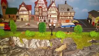 Spur N Modellbahn Bahnübergang und Rest Parade Strecke fertig