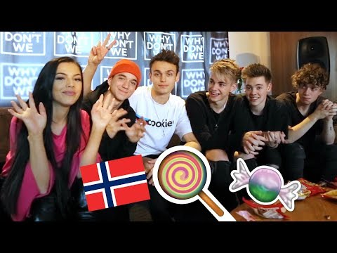 Tasting Norwegian candy with Why Don't We  + VLOG