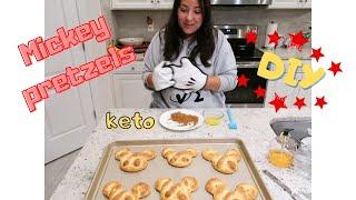 Mickey pretzel DIY  keto  Disney snacks gone keto episode 2