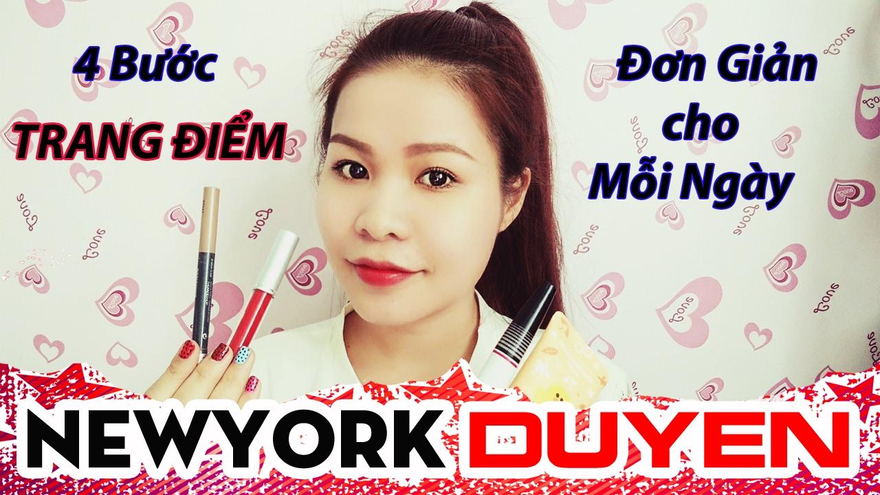 Hướng Dẫn 4 Bước Trang Điểm Đơn Giản Cho Mỗi Ngày| Makeup tự nhiên đi làm và đi học[Lipstick]