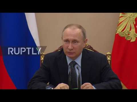 Russia: Putin and Security Council discuss attack on National Guard in Chechnya