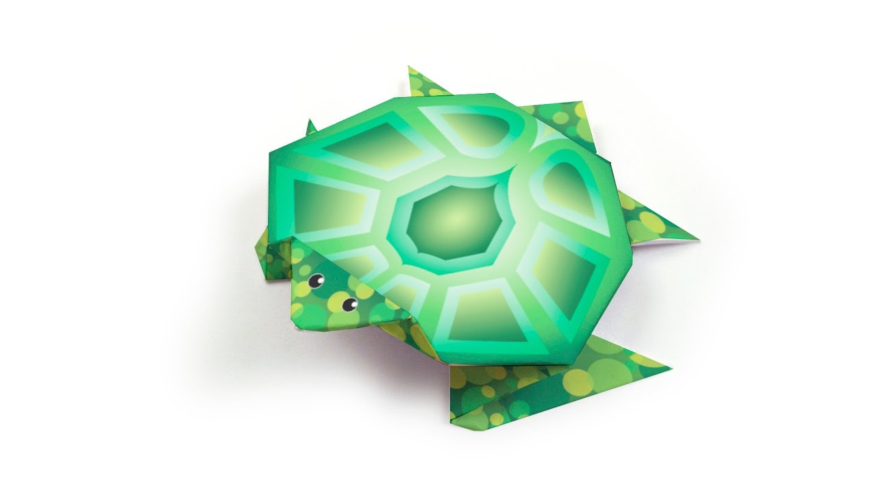 Easy Origami Turtle - How to Make Turtle Step by Step - YouTube | 720x1280