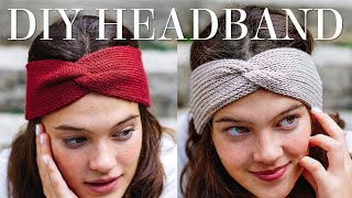 TWISTED HEADBAND Knitting Tutorial (Step By Step!)
