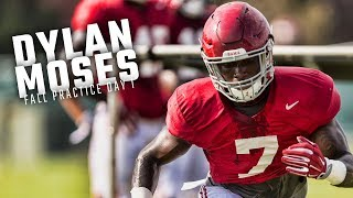 Watch Dylan Moses and the LBs run drills during Alabama