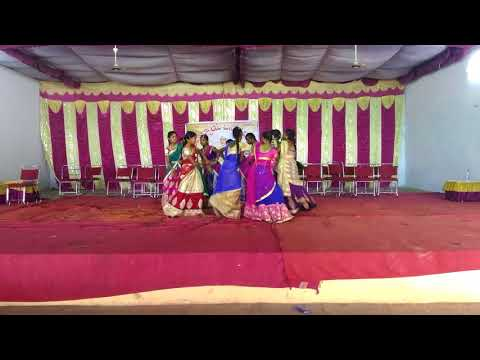Chinni Maa Bathukamma Performance By ZPHS Rangampet Students