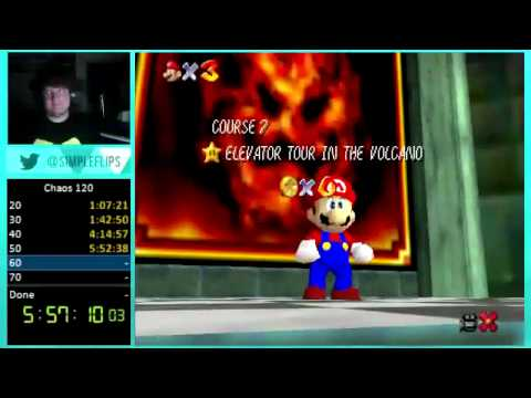 "Super Mario Chaos Edition 1.0 120 Star ""World Record"" in 15:52 (Part 1)"