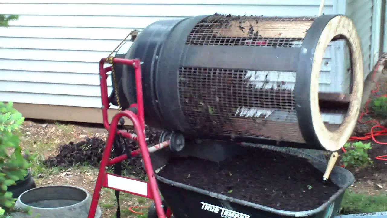 Compost Dirt Rotary Sifter Youtube
