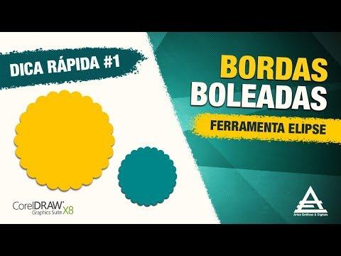DICA DE COREL DRAW | ELIPSE COM BORDAS BOLEADAS | André Emiliano