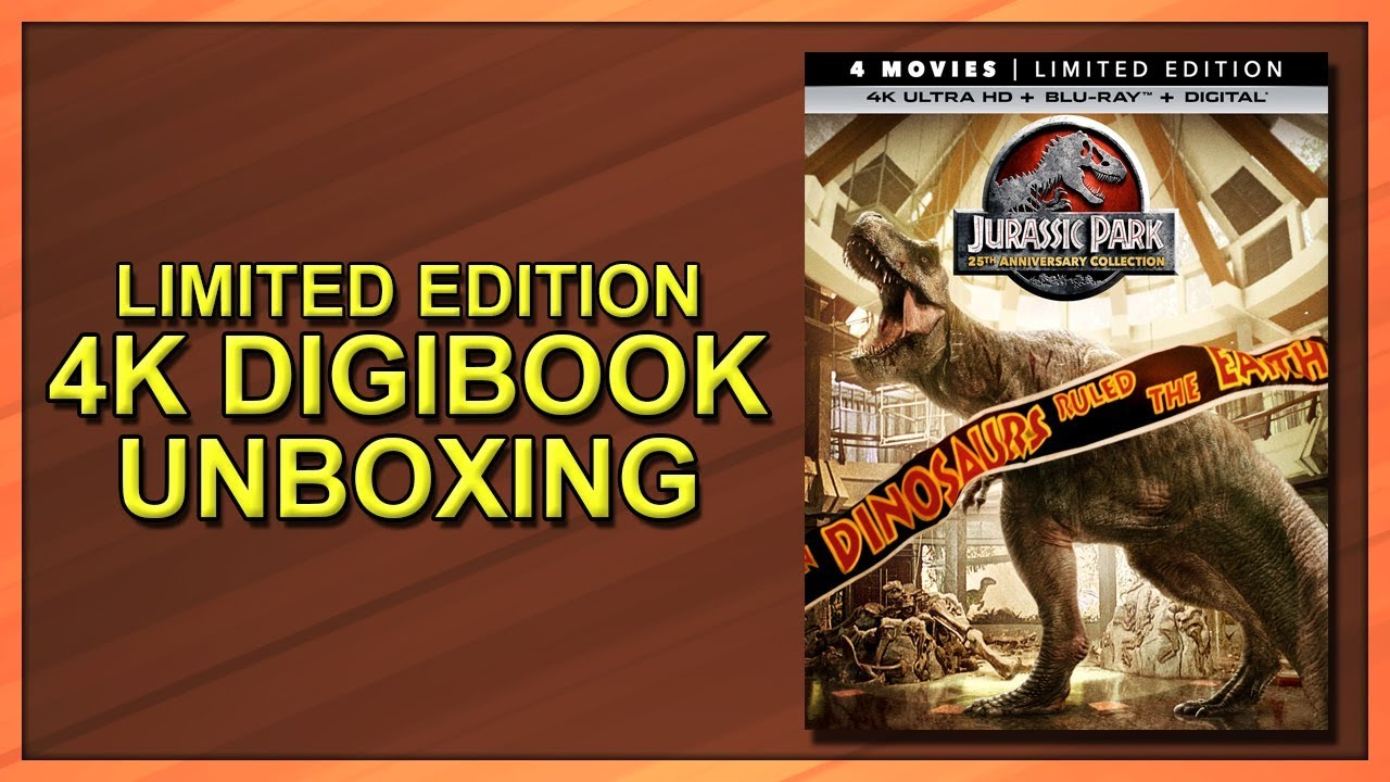 Jurassic Park Collection Best Buy Exclusive 25th Anniversary 4k 2d Blu Ray Steelbook Unboxing Youtube