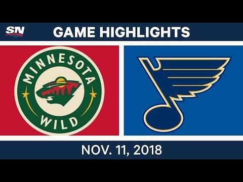 NHL Highlights | Wild vs. Blues – Nov. 11, 2018