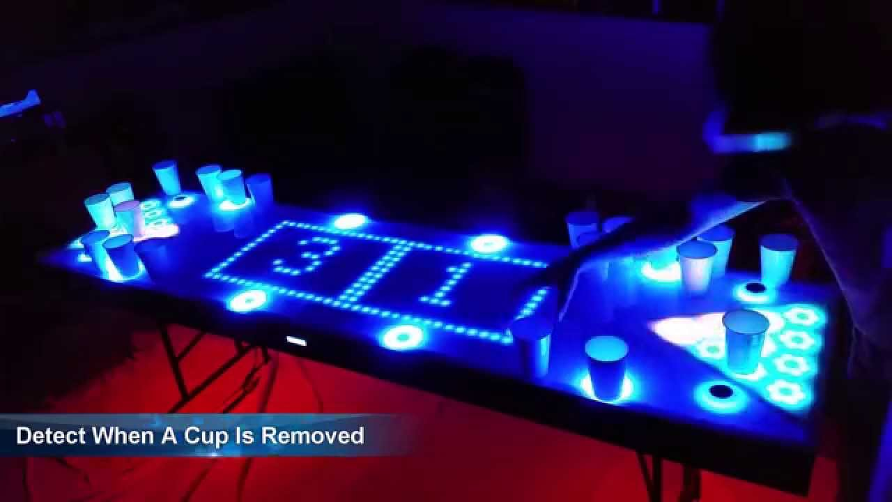 beer pong tisch led