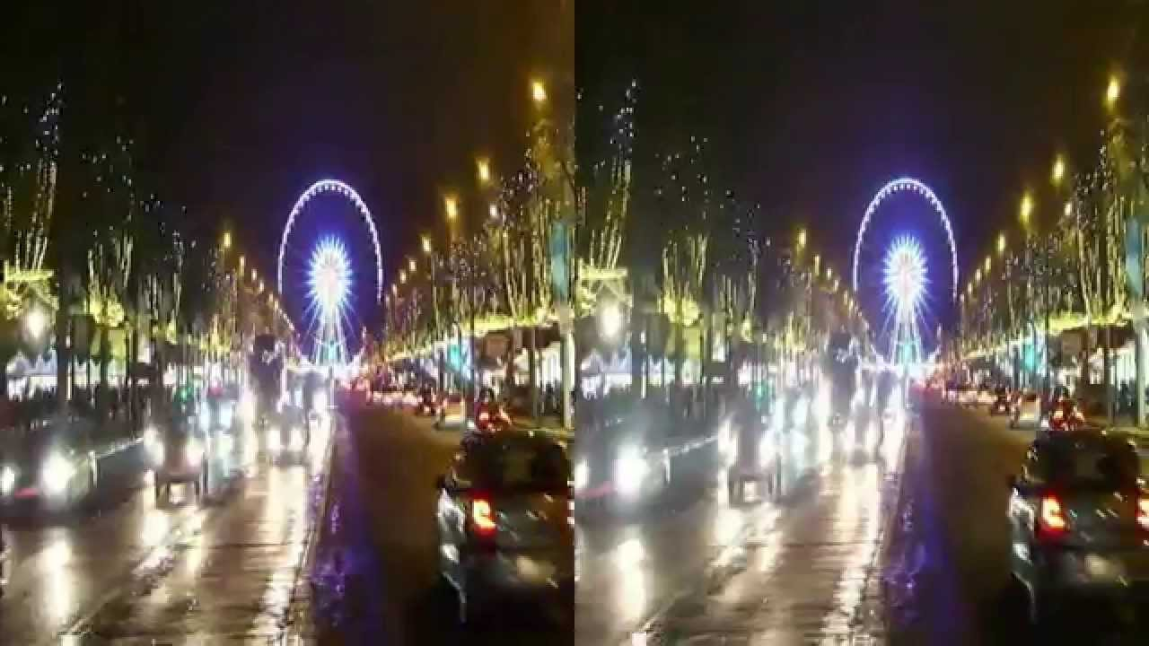 Noel champs elysees 2015 illumination en 3d 01 youtube - Illumination de paris ...
