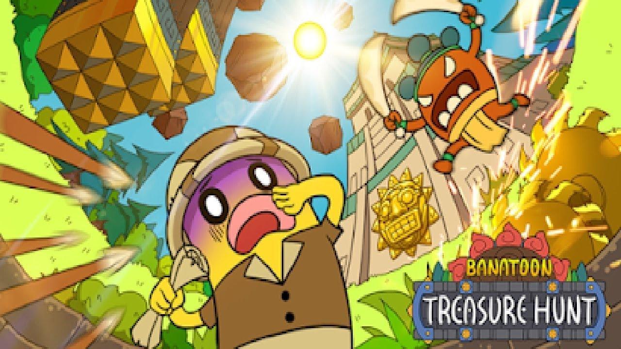 ПУТЕШЕСТВИЕ БАНАНА + ОГРОМНЫЙ Медведь в игре BANATOON Treasure hunt! Побег от злых Героев