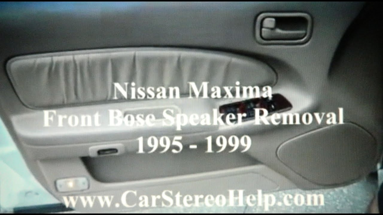 How To Nissan Maxima Front Bose Car Speaker Removal 1995 1999 1996 Audio Wiring Replace