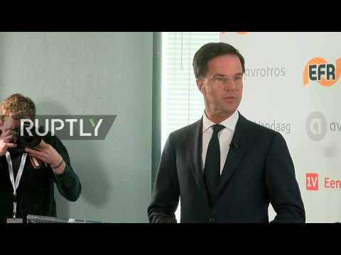 LIVE: Dutch Prime Minister Mark Rutte to hold press conferen