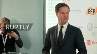 LIVE  Dutch Prime Minister Mark Rutte to hold press conference