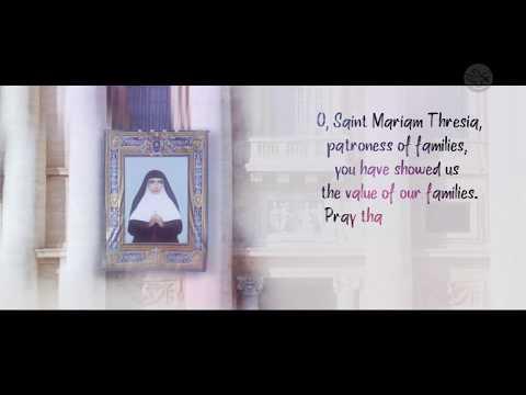 Saint Mariam Thresia | Prayer