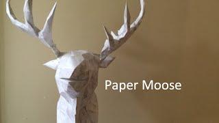Moose Papercraft