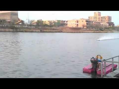 M.I.T. Rigger 1st test run - Taiwan RC boat (epoxy resin)
