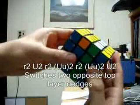 How to Solve a 4x4x4 Rubik's Cube - Part 3b Answer - Top Edges