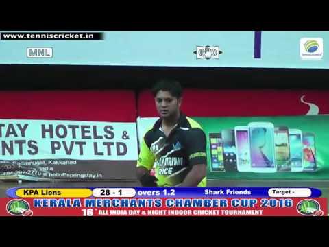 Match 38 | KPA-Lions VS Shark Friends | KMCC 2016 | Kerala Indoor CricketTournament