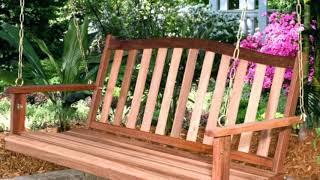 Inspirace pro zahradu - zahradní houpačka