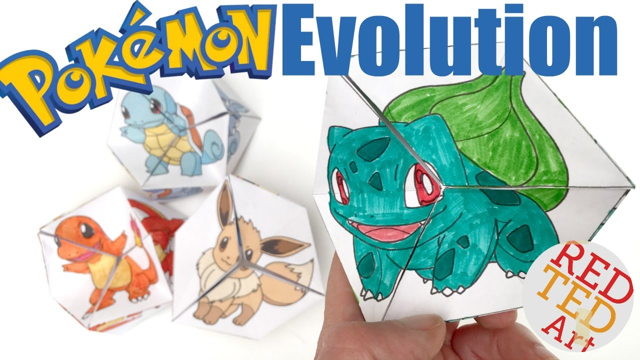 Neverending Pokemon Evolution Diy Paper Toy Amp Coloring