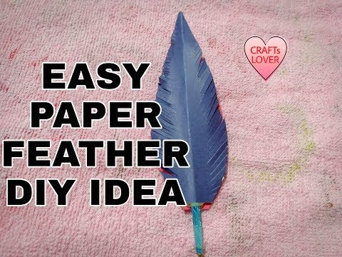 HOW TO MAKE: EASY PAPER FEATHER PEN |||