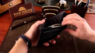 Стильное кожаное портмоне мужское Tony Perotti. Артикул Ct534nero(, 2015-11-10T16:03:04.000Z)