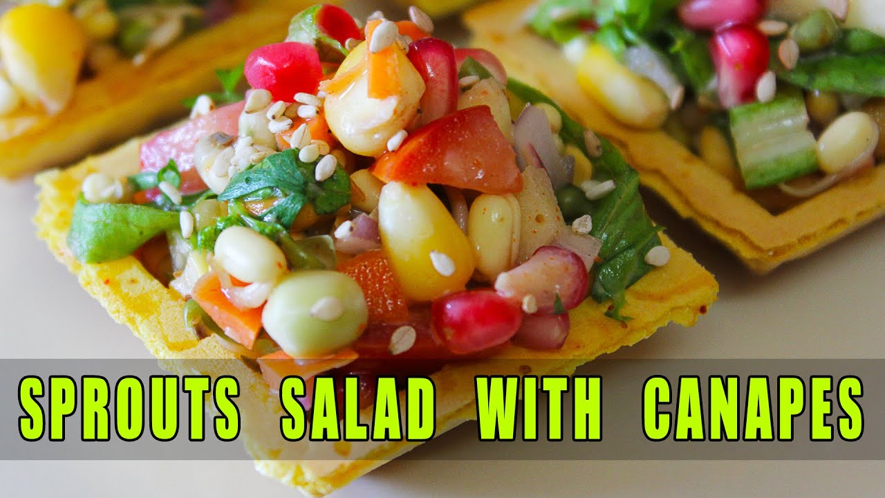 Nutritious sprouts salad on canapes healthy salad recipe for Canape ingredients