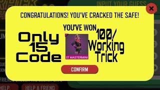 Crack The Safe Solve the clue  Garena Free Fire   Bloodyman Gaming