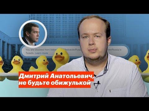 Дмитрий Анатольевич, не будьте обижулькой