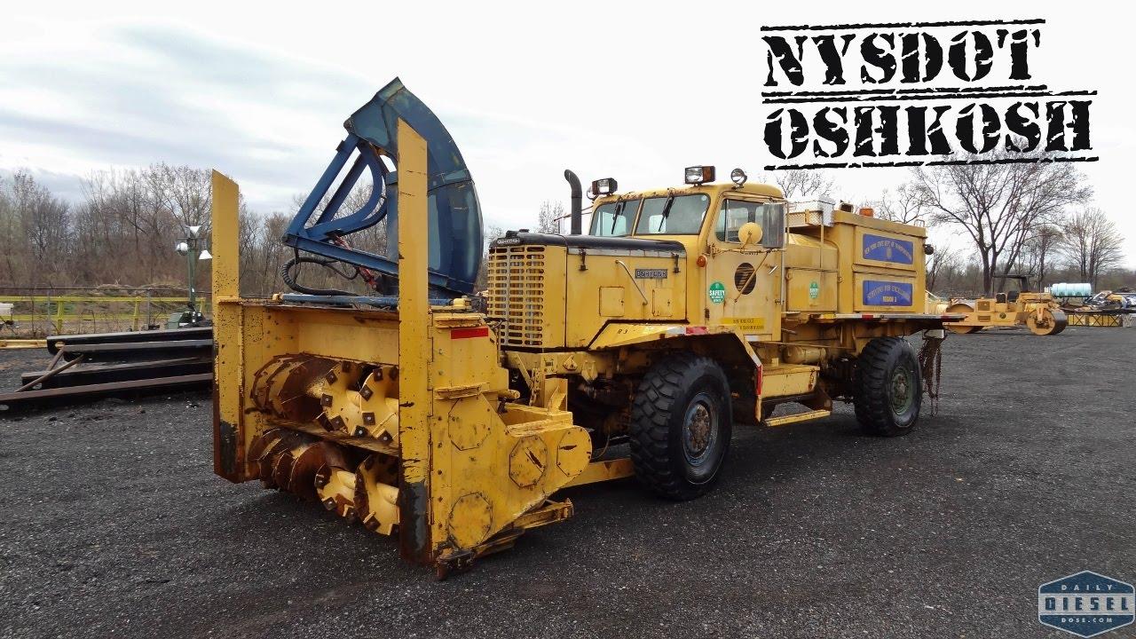 Snow Blower 24 >> NYSDOT Oshkosh Snow Blower - YouTube