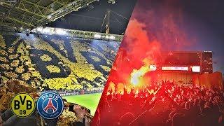 Dortmund vs PSG | Ambiance des 2 côtés ! ( 18.02.2020 )