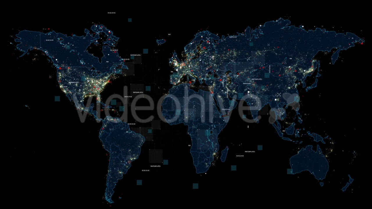 World map free after effects template youtube world map free after effects template gumiabroncs Image collections