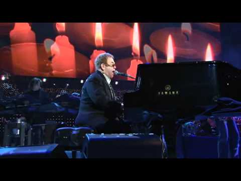 Elton John's 60th Birthday  - 2007 Something about the way you look tonight (HD)