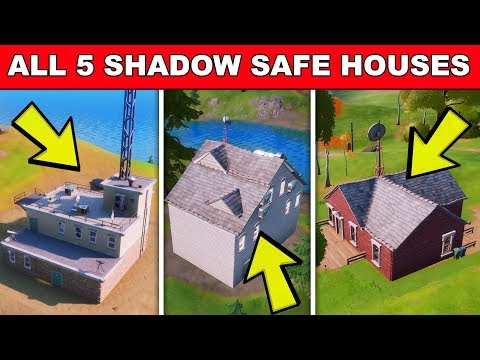 Find SHADOW Safe Houses - ALL 5 LOCATIONS Fortnite (ALPHA, BETA, CHARLIE, DELTA & ECHO SAFE HOUSES)