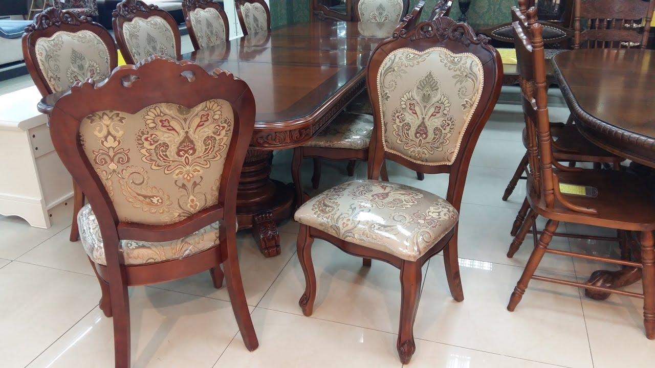 Обеденные столы и стулья Малайзия. Стол Daming 718 + стулья .