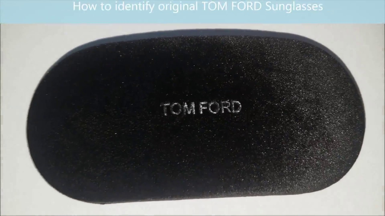b9f423c6b7 How to spot original Tom Ford Sunglasses. - YouTube
